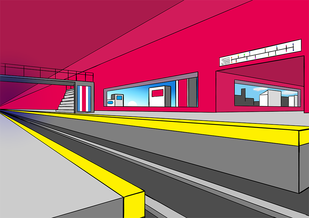 A Futuristic TrainStation
