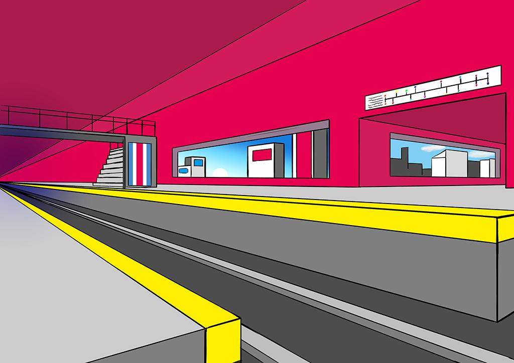 A Futuristic TrainStation